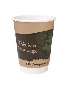 Fiesta Green Composteerbare dubbelwandige koffiebekers 35,5cl | Pak van 500