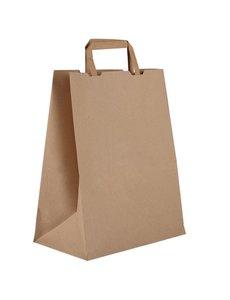 Composteerbare papieren draagtassen | 35Hx25Bx14D cm.  | 250 stuks