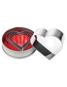 Vogue Stekerdoos hartvorm glad zacht staal | 4.7 - Ø8cm. | Set van 6