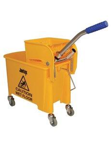 Jantex Rolemmer met wringer geel 20 Liter | 28x35xH48 cm.
