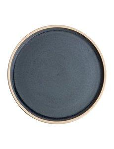 Olympia Canvas blauw graniet platte ronde borden Ø18cm   Per 6 stuks