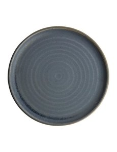 Olympia Canvas blauw graniet borden met smalle rand Ø26,5cm   Per 6 stuks