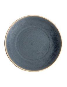 Olympia Canvas blauw graniet gewelfde borden Ø27cm   Per 6 stuks