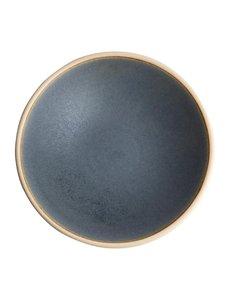 Olympia Canvas blauw graniet ondiepe schalen Ø20cm   Per 6 stuks