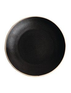 Olympia Olympia Canvas gewelfde borden zwart 27cm
