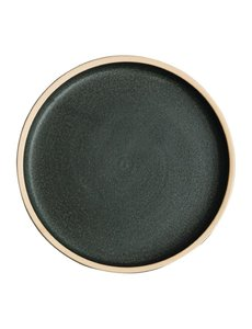 Olympia Canvas donkergroen platte ronde borden Ø18cm   Per 6 stuks