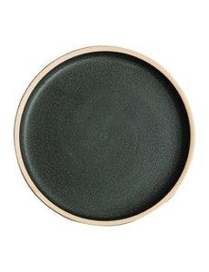 Olympia Olympia Canvas platte ronde borden donkergroen 18cm