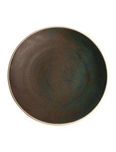 Olympia Canvas donkergroen gewelfde borden Ø27cm   Per 6 stuks