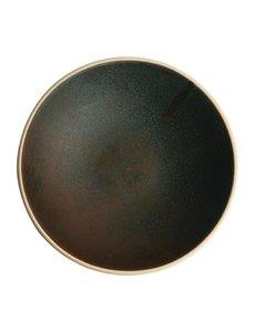 Olympia Canvas donkergroen ondiepe schalen  Ø20cm   Per 6 stuks