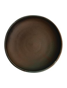 Olympia Canvas donkergroen diepe coupe borden  Ø23cm   Per 6 stuks
