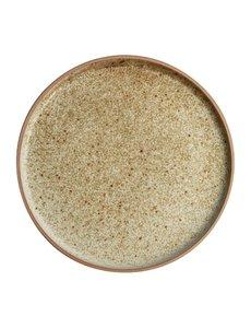 Olympia Canvas crème platte ronde borden  Ø25cm   Per 6 stuks