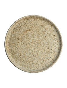Olympia Canvas crème borden met smalle rand  Ø26,5cm   Per 6 stuks