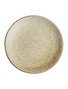 Olympia Canvas crème gewelfde borden  Ø27cm   Per 6 stuks