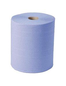 Jantex Handdoekrol 2-laags blauw 800 vellen | 2 rollen