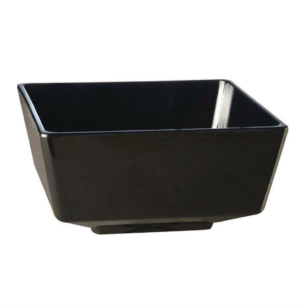 APS APS Float vierkante melamine kom zwart 12,5x12,5cm