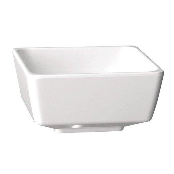 APS APS Float vierkante melamine kom wit 4 liter   25x25cm