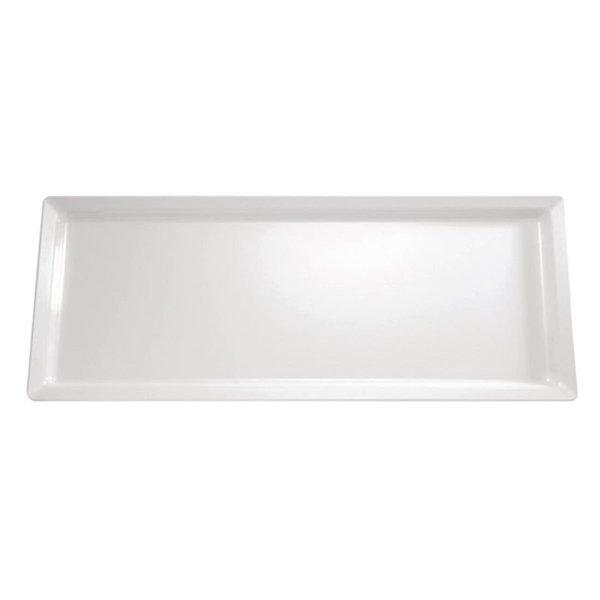 APS APS Pure rechthoekige melamine schaal wit | 65x26.5cm.