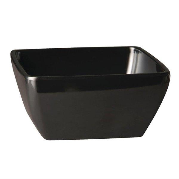 APS APS Pure vierkante melamine kom zwart 1.5 liter   19x19cm