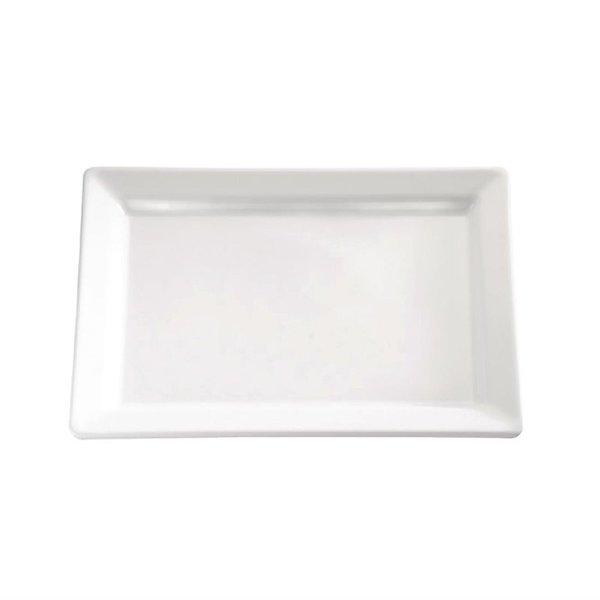APS APS Pure rechthoekige melamine schaal wit 53x18cm