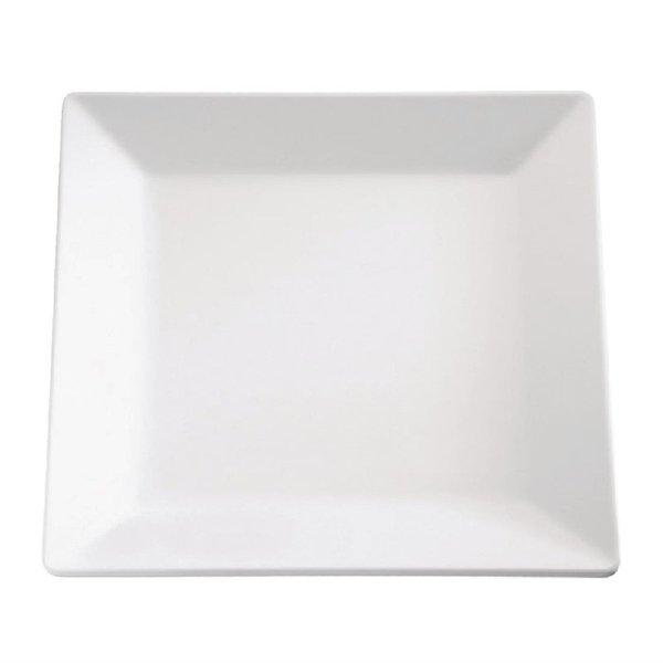 APS APS Pure vierkante melamine schaal wit 37x37cm