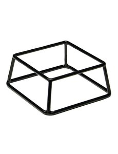 APS Buffetstandaard laag zilver | 18x18xH8cm