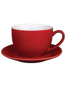 Olympia Café cappuccinokoppen rood 34cl | 12 stuks