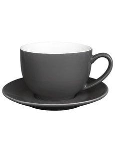 Olympia Café cappuccinokoppen grijs 34cl | 12 stuks