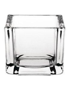 Olympia Olympia glazen theelichthouders vierkant transparant
