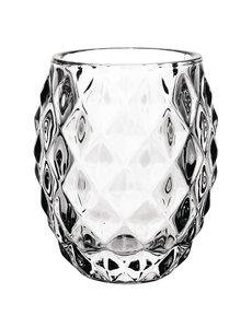 Olympia Olympia glazen theelichthouder transparant diamant 7,5cm