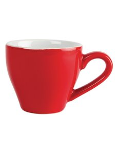 Olympia Café espresso koppen rood 10cl | 12 stuks