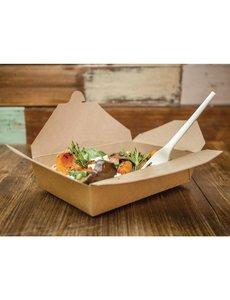 Vegware Composteerbaar voedseldoosje 105cl | 15x12xH5cm.  | 150 stuks