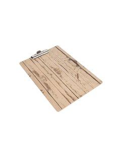 Olympia Klembord met papierklem hout-effect A4 | 33x23 cm.