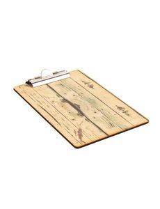 Olympia Klembord met papierklem hout-effect A5 | 24x16 cm.