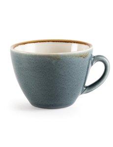 Olympia Kiln cappuccino kopjes blauw 23cl | 6 stuks