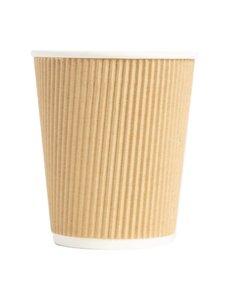 Fiesta Koffiebeker met gerimpelde wand lichtbruin 23cl | 500 stuks