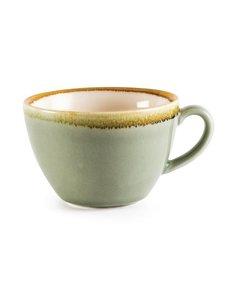 Olympia Kiln cappuccino kopjes mosgroen 34cl | 6 stuks