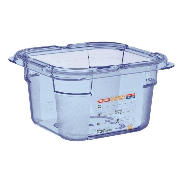 Araven Araven ABS blauwe voedseldoos BPA-vrij | GN 1/6 - 10cm diep