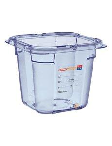 Araven ABS blauwe GN 1/6 - 15cm. | Voedseldoos | 15(h)x17,6(b)x16,2(d)cm