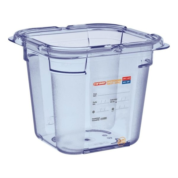 Araven Araven ABS blauwe voedseldoos BPA-vrij | GN 1/6 - 15cm diep