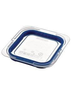 Araven ABS blauwe luchtdichte deksel voor voedseldoos GN 1/6 | 17.6x16.23 cm.