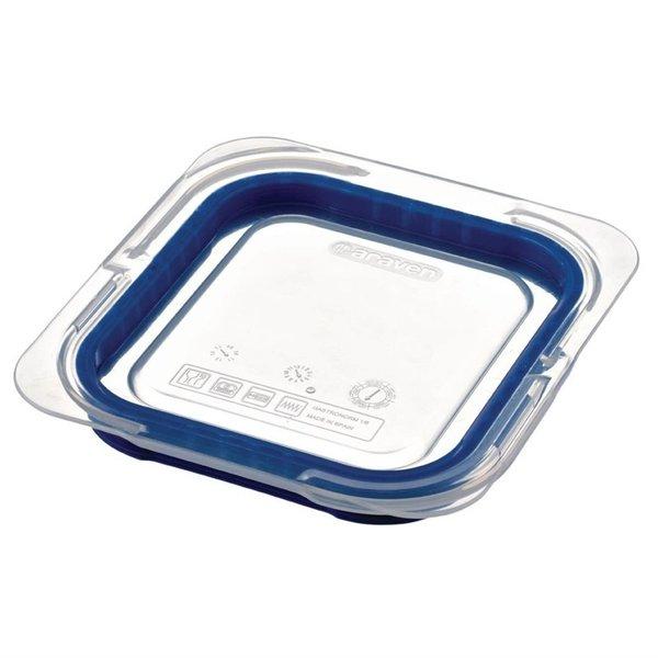 Araven Araven ABS blauwe luchtdichte deksel voor voedseldoos GN 1/6 | 17.6x16.23 cm.