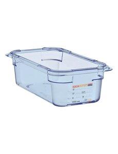 Araven ABS blauwe voedseldoos BPA-vrij | GN 1/4 - 10cm diep