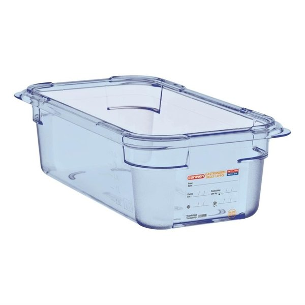 Araven Araven ABS blauwe voedseldoos BPA-vrij | GN 1/4 - 10cm diep