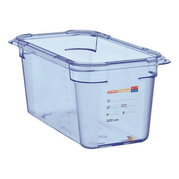 Araven Araven ABS blauwe voedseldoos BPA-vrij   GN 1/4 - 15cm diep
