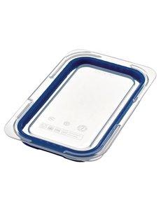 Araven ABS blauwe luchtdichte deksel voor voedseldoos GN 1/4 | 26.5x16.3 cm.