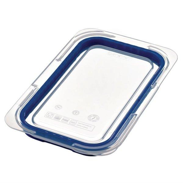 Araven Araven ABS blauwe deksel voor voedseldoos GN 1/4   Luchtdicht    26.5x16.3 cm.