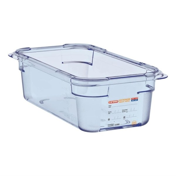 Araven Araven ABS blauwe voedseldoos BPA-vrij | GN 1/3 - 10cm diep