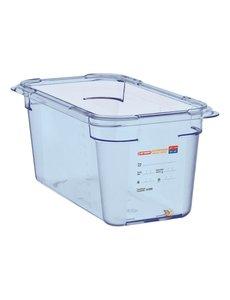 Araven ABS blauwe voedseldoos BPA-vrij | GN 1/3 - 15cm diep