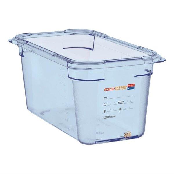 Araven Araven ABS blauwe GN 1/3 voedseldoos 15cm diep