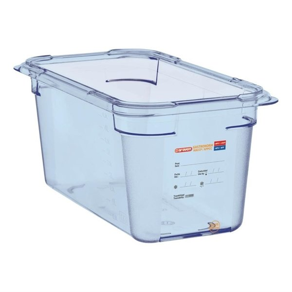 Araven Araven ABS blauwe voedseldoos BPA-vrij | GN 1/3 - 15cm diep